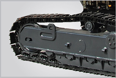 Steel track adaptable to all terrains